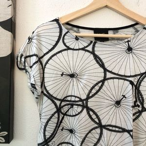 Anthropologie W5 Bicycle Tee, Sz S